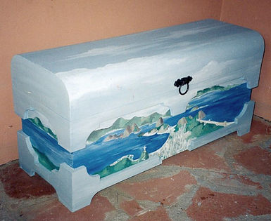 Geribapaintings - Odile Dardenne - Odile Tardieux - Hand Painted furniture - Donne Mobile - odiledardenne.com,