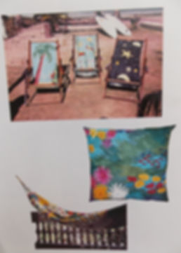 Geribapaintings - Odile Dardenne - Odile Tardieux - Hand Painted furniture - painted fabric -