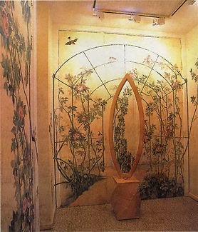 Roses Closet, Casa Cor São Paulo, Cristina Allegri, peintures décoratives, decorative paintings, odile dardenne, odiledardenne.com, trompe-l'oeil,