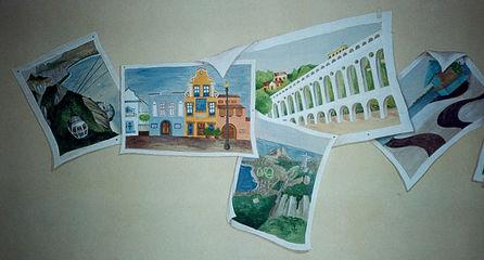 Mural Painting, São Paulo, Brazil, peintures décoratives, decorative paintings, Odile Dardenne, odiledardenne.com, trompe-l'oeil,