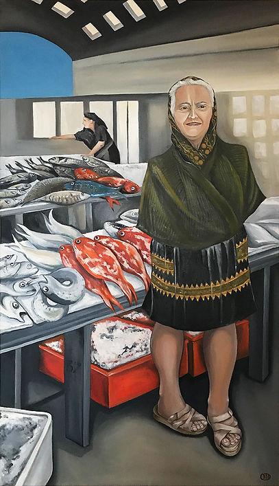 portrait, Nazaré, peixeira, vendedora de peixe, portugal, lisboa