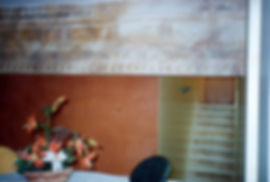 Fresco, Pompei colors, Angra dos Reis, Rio de Janeiro, Brazil, peintures décoratives, decorative paintings, Odile Dardenne, odiledardenne.com, trompe-l'oeil,