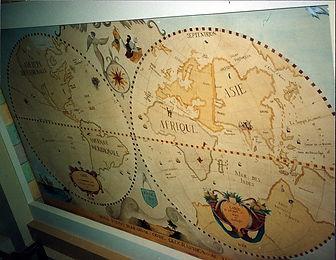 Old planisphere ceiling, Recife, Brazil, peintures décoratives, decorative paintings, odile dardenne, odiledardenne.com, trompe-l'oeil,
