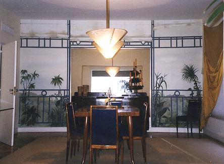 Dining room, Ipanema, Rio de Janeiro, Brazil, peintures décoratives, decorative paintings, odile dardenne, odiledardenne.com, trompe-l'oeil,