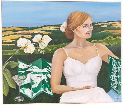 Léa, la mariée du Lauragais, Lauragais, lisbon, portrait, portrait painting,