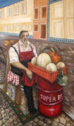 Chiado, vendedor de frutas, Zé das frutas, lisboa, portugal