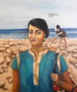 Puduchery, Pondicherry, portrait, lisbon, portugal, painting, portrait painting