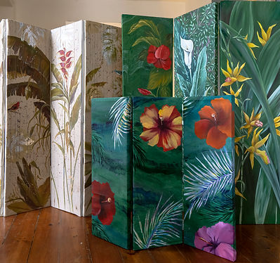 Geribapaintings - Odile Dardenne - Odile Tardieux - Hand Painted furniture - Paravent - Biombo-