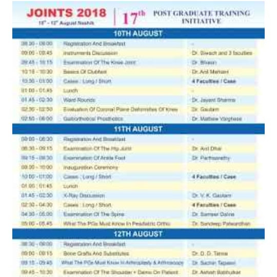 JOINTS ORTHO PG CME