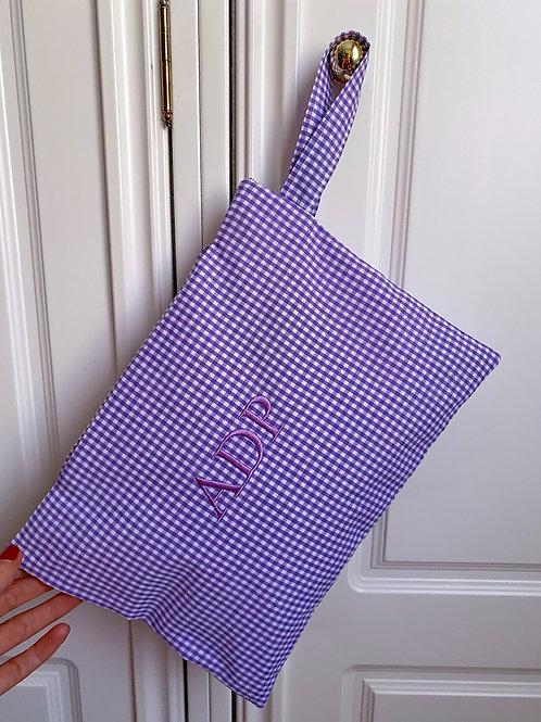 Vichy lila - cuadros pequeños