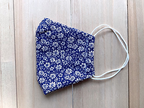 Mascarilla flores azul
