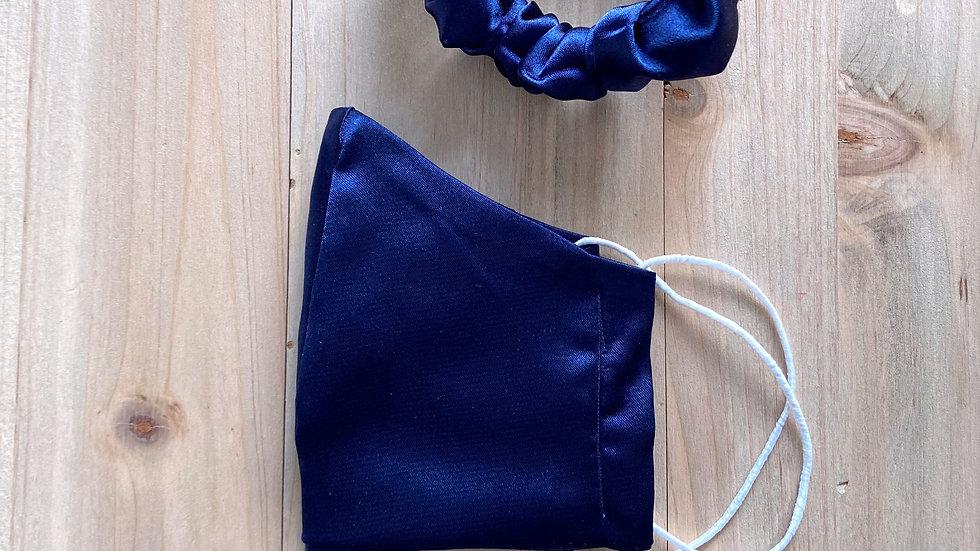 Mascarilla raso azul