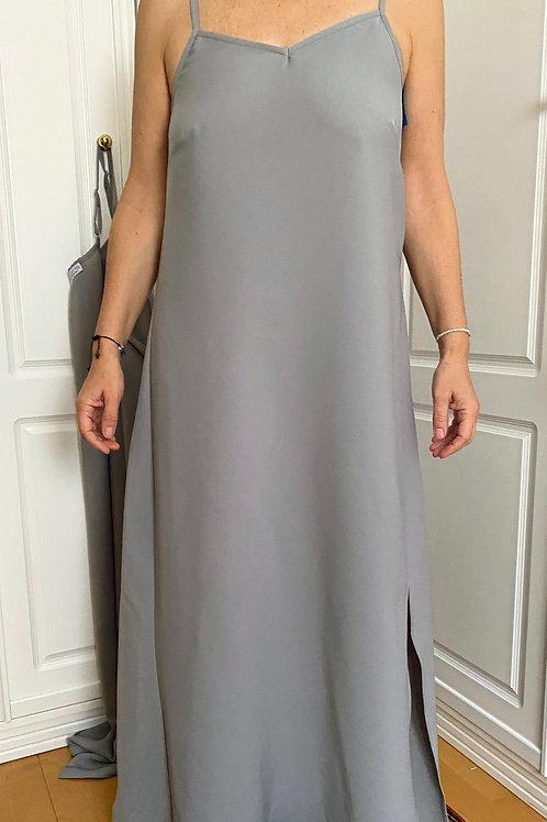 Vestido Natalia - Gris perla