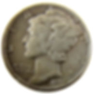 1942 over 1 Mercury Dime.JPG