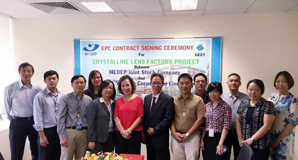 Lễ Ký kết hợp tác với Tổng thầu xây dựng TVC (giai đoạn 1)