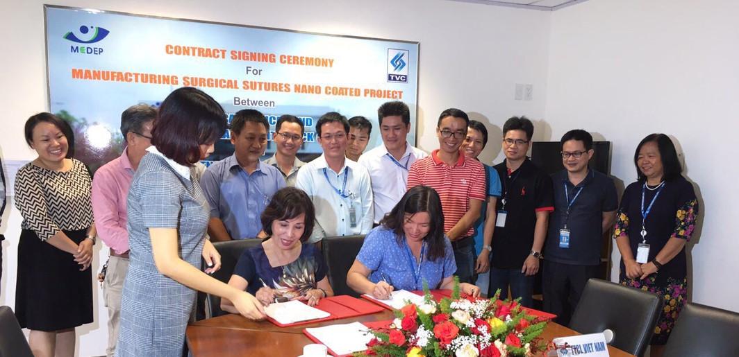 Lễ Ký kết hợp tác với Tổng thầu xây dựng TVC (giai đoạn 2)