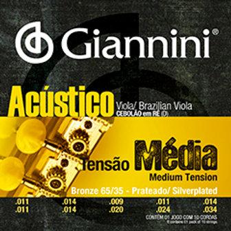 Encordoamento Viola Giannini Tensão Média