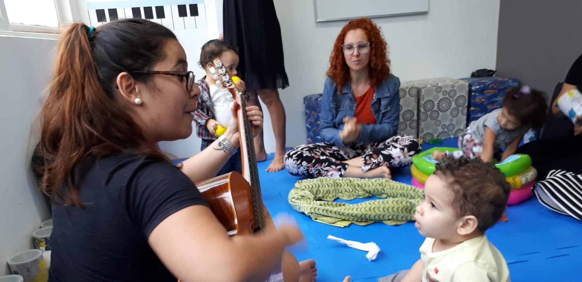 Aulas com os bebês