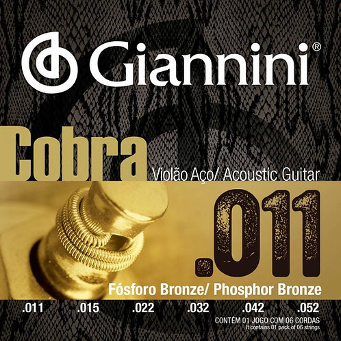 Encordoamento Violão Aço 0.11 Giannini