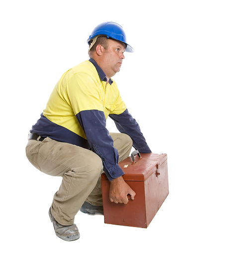 A worker demonstrating a good lifting te