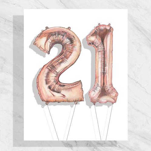 #21 Mylar Balloon Drawing