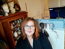 Jamie in her studio