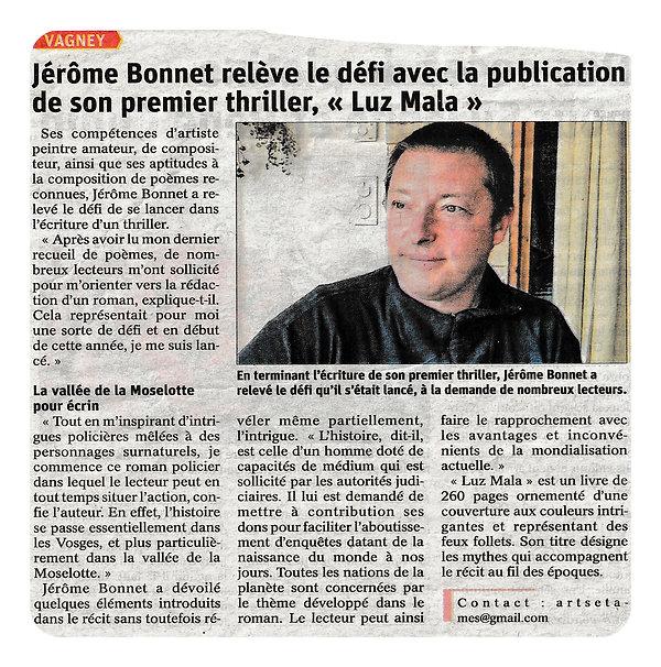 Article Vosges Matin - 25-04-21 6 Luz Ma