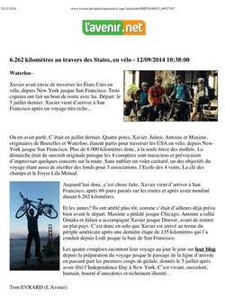 Site internet du journal L'Avenir