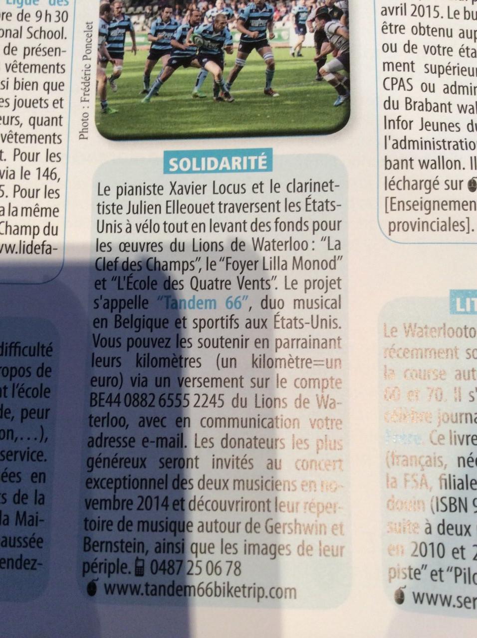 Journal local de Waterloo