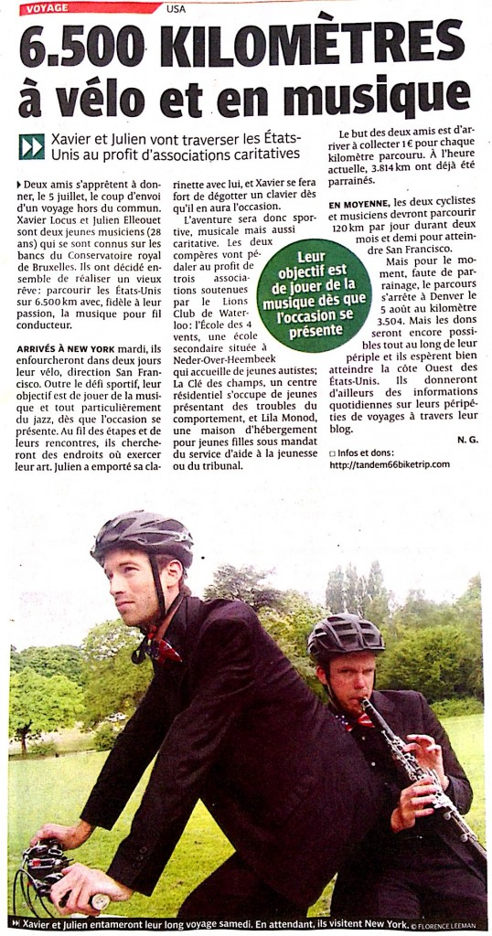 "Journal ""La DH"" du 3/7/2014"