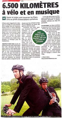 """Journal """"La DH"""" du 3/7/2014"""