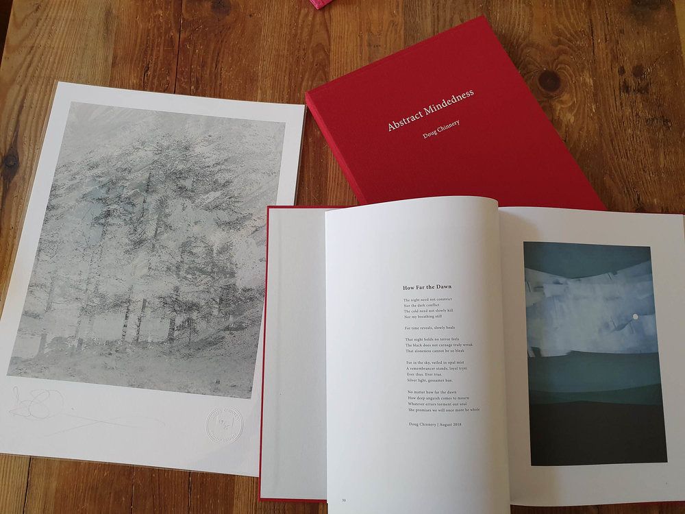"""The Book """"Abstract Mindedness"""" , slipcase and A3 Print."""