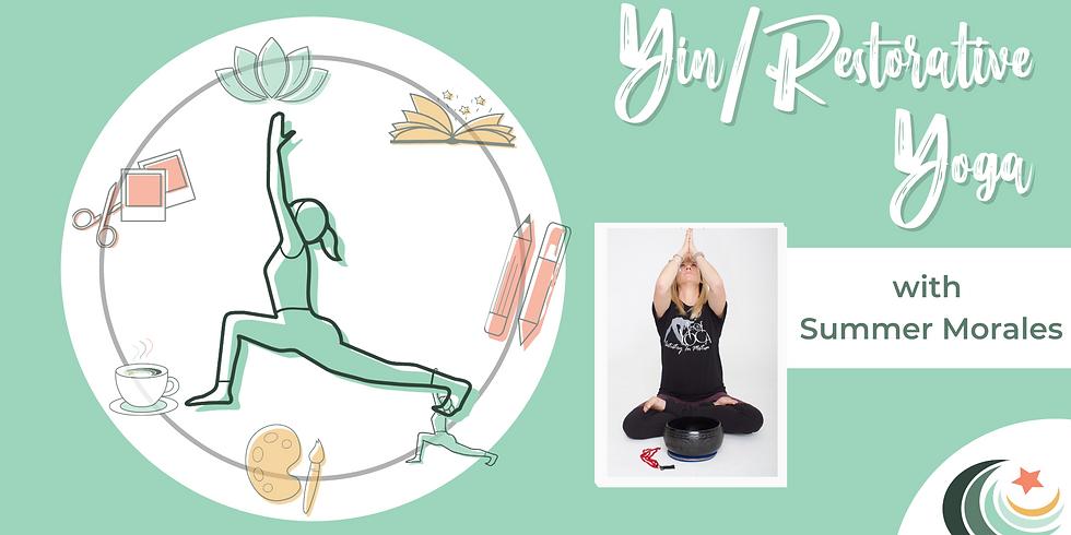 Yin/Restorative Yoga with Summer