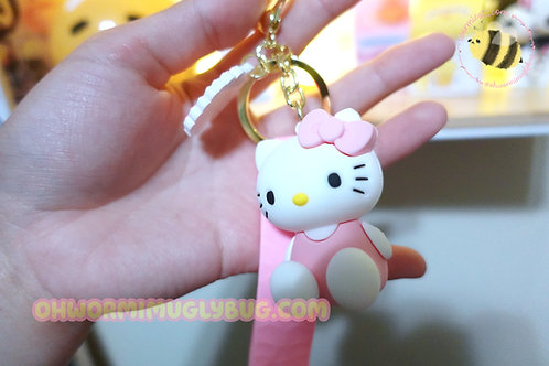 Thick Hello Kitty Strap Keychain