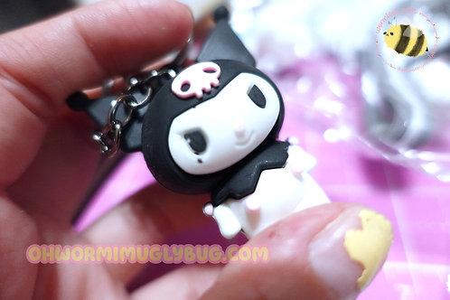 Imperfect Kuromi Strap Keychain