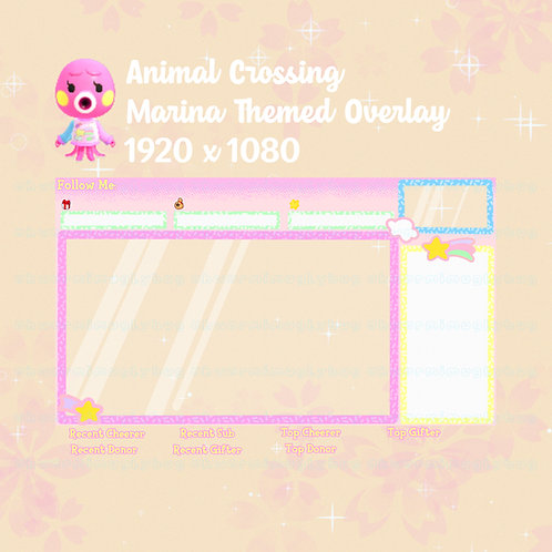 Animal Crossing Marina Themed Overlay