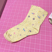 Yellow Star and Planet Socks