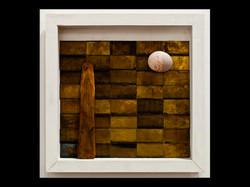 brass, wood, shell