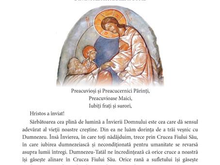 Scrisoare Pastorală a IPS Iosif la Învierea Domnului 2021