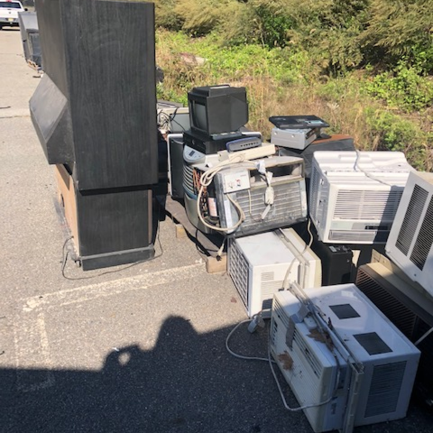 E-waste awaiting to be recycled