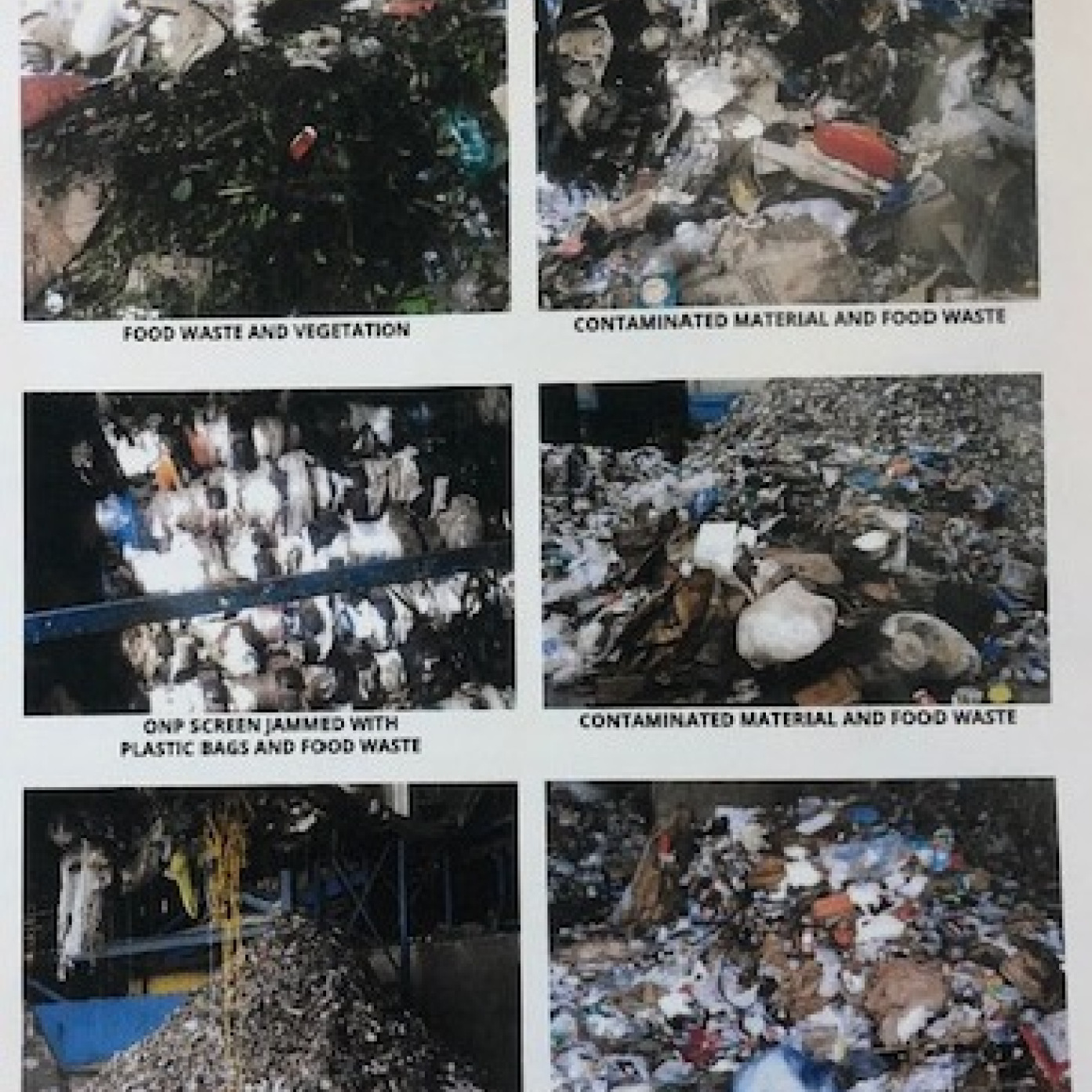 Items that are not accepeted at the recycling center