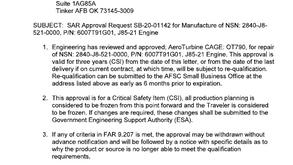 J85 Certification Process