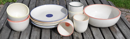 Potela Geschirr aus Porzellan