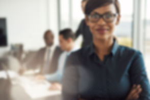 presenting to executives confident woman