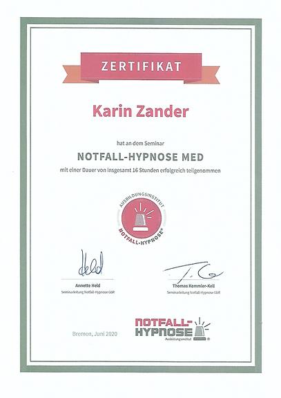 Notfall-Hypnose Med Karin Zander