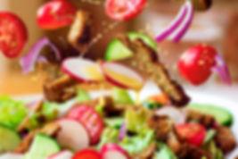 Vegan Chicken Strips Salad