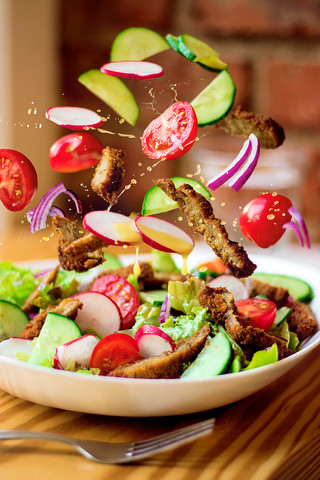Flying Chicken Stripes Salad