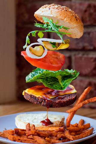 Flying Smokey BBQ Mushroom Burger