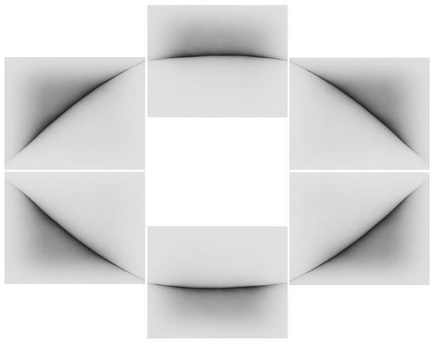 c3, 2020. série: convergências. pigmento vegetal sobre papel algodão. políptico 20 x 25 cm cada