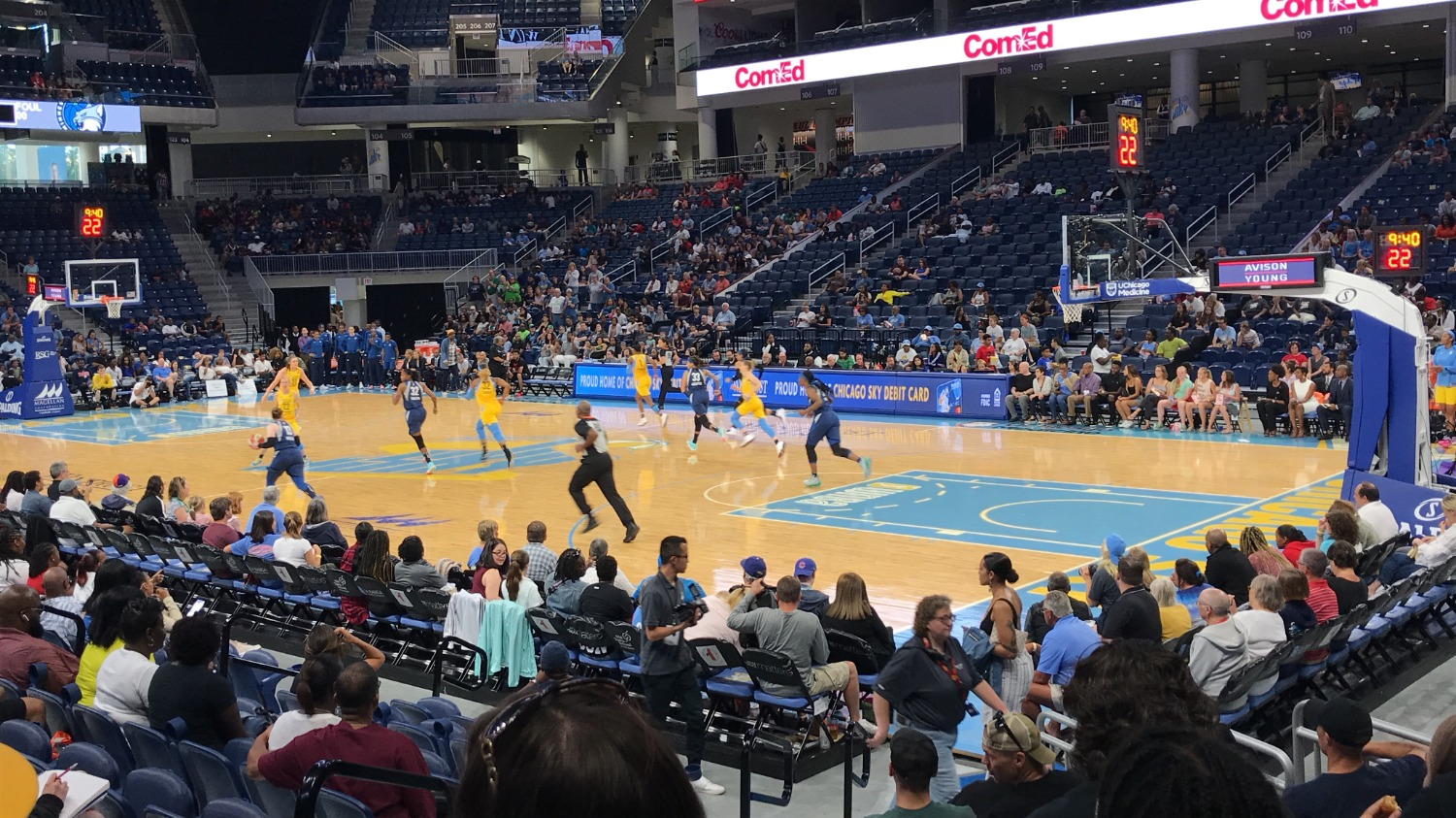 The Chicago Sky take on the Minnesota Lynx at the Wintrust Arena in Chicago, Illinois.